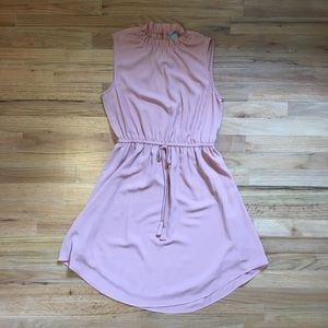 H&M pale pink high neck sleeveless dress.